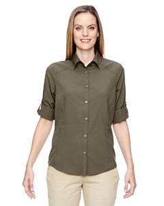 Dk Oakmoss 487 Ladies' Excursion Concourse Performance Shirt