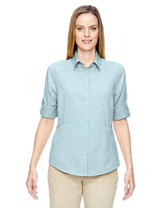 Crystl Blu 671 Ladies' Excursion Concourse Performance Shirt