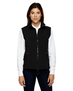 Black 703 Ladies' Three-Layer Light Bonded Performance Soft Shell Vest