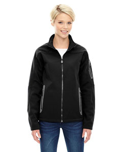 Black 703 Ladies' Three-Layer Fleece Bonded Soft Shell Technical Jacket