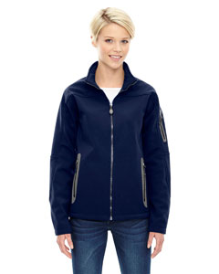 Classic Navy 849 Ladies' Three-Layer Fleece Bonded Soft Shell Technical Jacket