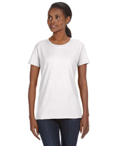 White Ladies' Ringspun Midweight Mid-Scoop T-Shirt