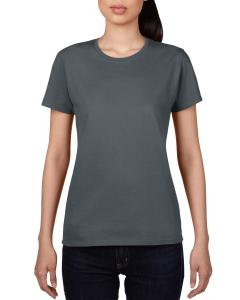 Charcoal Ladies' Ringspun Midweight Mid-Scoop T-Shirt