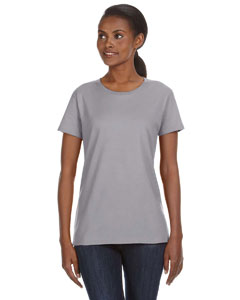 Heather Grey Ladies' Ringspun Midweight Mid-Scoop T-Shirt