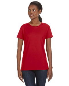 Red Ladies' Ringspun Midweight Mid-Scoop T-Shirt