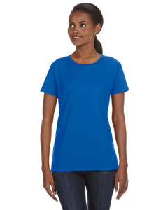 Royal Blue Ladies' Ringspun Midweight Mid-Scoop T-Shirt