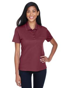 Burgundy Ladies' Origin Performance Pique Polo with Pocket