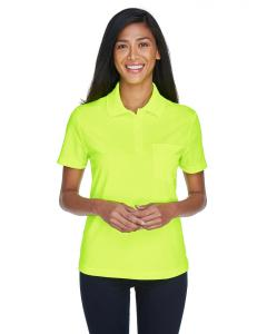 Safety Yellow Ladies' Origin Performance Pique Polo with Pocket