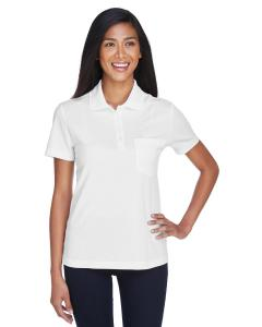White Ladies' Origin Performance Pique Polo with Pocket