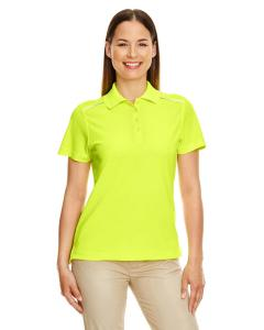 Safety Yellow Ladies Radiant Performance Piqu Polo with Reflective Piping