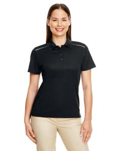 Black Ladies Radiant Performance Piqu Polo with Reflective Piping