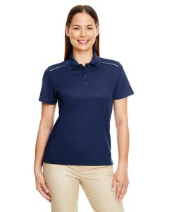 Classic Navy Ladies Radiant Performance Piqu Polo with Reflective Piping