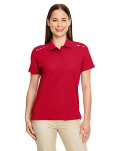 Classic Red Ladies Radiant Performance Piqu Polo with Reflective Piping