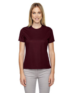 Burgundy 060 Ladies' Pace Performance Piqué Crew Neck