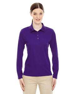 Campus Prple 427 Ladies' Pinnacle Performance Long-Sleeve Piqué Polo