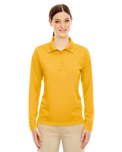 Campus Gold 444 Ladies' Pinnacle Performance Long-Sleeve Piqué Polo