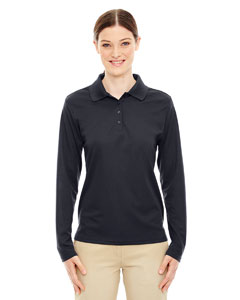 Carbon 456 Ladies' Pinnacle Performance Long-Sleeve Piqué Polo