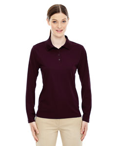 Burgundy 060 Ladies' Pinnacle Performance Long-Sleeve Piqué Polo