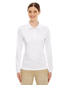 White 701 Ladies' Pinnacle Performance Long-Sleeve Piqué Polo