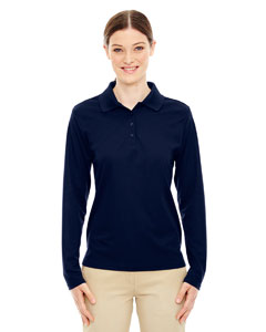 Classic Navy 849 Ladies' Pinnacle Performance Long-Sleeve Piqué Polo