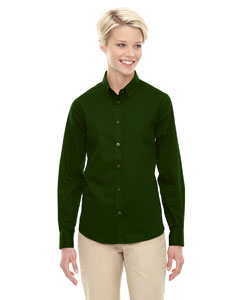 Forest Gren 630 Ladies' Operate Long-Sleeve Twill Shirt