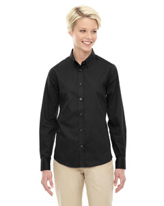 Black 703 Ladies' Operate Long-Sleeve Twill Shirt