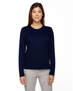 Classic Navy 849 Ladies' Agility Performance Long-Sleeve Piqué Crew Neck