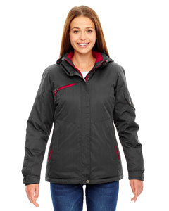 Crbn/cl Red 486 Ladies' Rivet Textured Twill Insulated Jacket