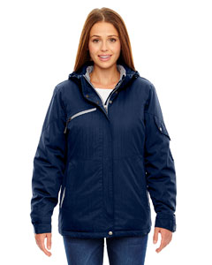 Night 846 Ladies' Rivet Textured Twill Insulated Jacket