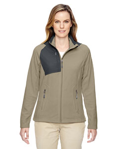 Stone 019 Ladies' Excursion Trail Fabric-Block Fleece Jacket