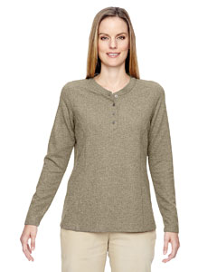 Stone 019 Ladies' Excursion Nomad Performance Waffle Henley