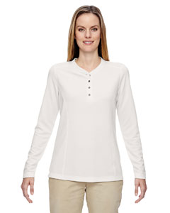 Cryst Qrtz 695 Ladies' Excursion Nomad Performance Waffle Henley