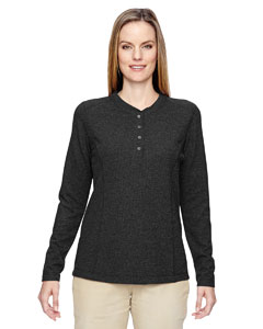 Black 703 Ladies' Excursion Nomad Performance Waffle Henley