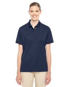 Cl Nvy/ Crbn 849 Ladies' Motive Performance Pique Polo with Tipped Collar