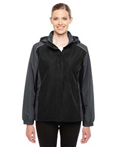 Blck/ Carbon 703 Ladies' Inspire Colorblock All-Season Jacket
