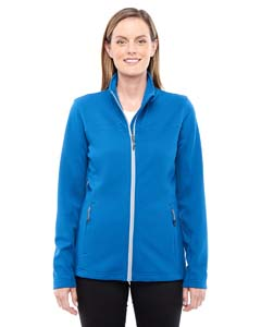 Naut Blu/ Plt413 Ladies' Torrent Interactive Textured Performance Fleece Jacket