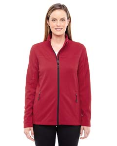 Cls Red/ Blk 850 Ladies' Torrent Interactive Textured Performance Fleece Jacket