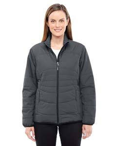 Grphite/ Blk 156 Ladies' Resolve Interactive Insulated Packable Jacket