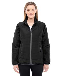 Blck/ Grphte 703 Ladies' Resolve Interactive Insulated Packable Jacket