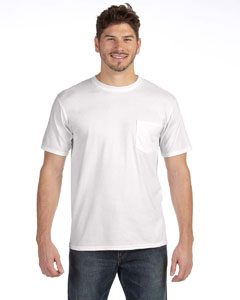 White Adult Midweight Pocket T-Shirt