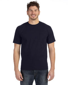 Navy Adult Midweight Pocket T-Shirt