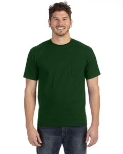Forest Green Adult Midweight Pocket T-Shirt