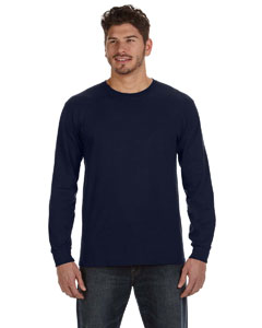Navy Ringspun Heavyweight Long-Sleeve T-Shirt