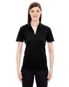 Black 703 Ladies' Recycled Polyester Performance Piqué Polo