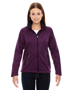 Mulbry Purpl 449 Ladies' Splice Three-Layer Light Bonded Soft Shell Jacket with Laser Welding