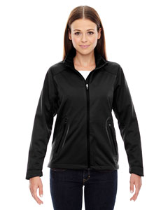 Black 703 Ladies' Splice Three-Layer Light Bonded Soft Shell Jacket with Laser Welding