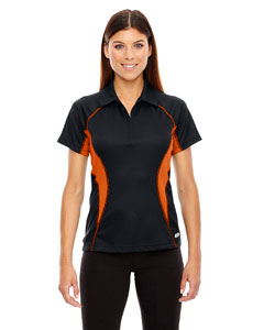 Black/ Mndrn 454 Ladies' Serac UTK cool.logik™ Performance Zippered Polo