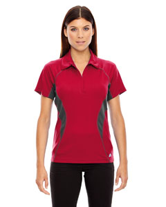Olympic Red 665 Ladies' Serac UTK cool.logik™ Performance Zippered Polo