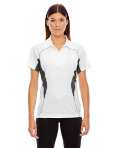 White 701 Ladies' Serac UTK cool.logik™ Performance Zippered Polo
