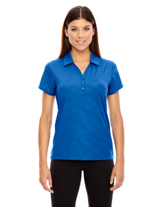 Nauticl Blue 413 Ladies' Maze Performance Stretch Embossed Print Polo